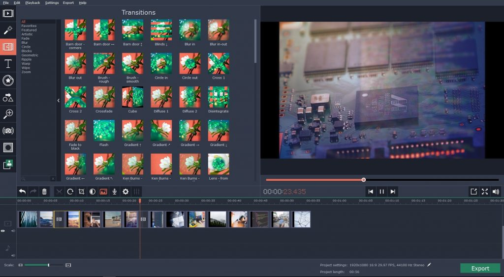 Create Slow-mo effect in your video without special cameras with Movavi Video Editor
